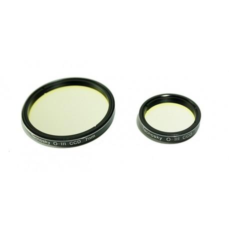 """Filtre OIII 6.5 nm 1.25 """" pour la photographie en bande étroite"""