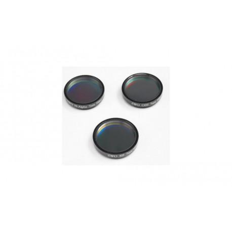 "Jeu de 3 filtres ZWO H-Alpha, SII et OIII 7nm 31,75mm (1.25"")"
