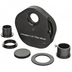 """Roue à filtres 5 positions (filtre 1.25"""" montés ou verre de 36mm de diamètre"""