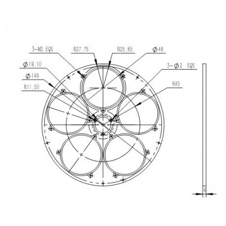 """Disque supplémentaire pour roue à Filtres QHYCFW3-M-US (5 Position, Filtre 2"""")"""