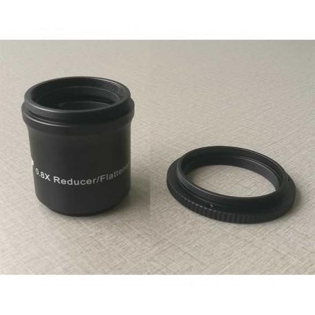 Correcteur TS-Optics 0.8x pour Réfracteur ED et Apo avec ouverture 70 à 72 mm